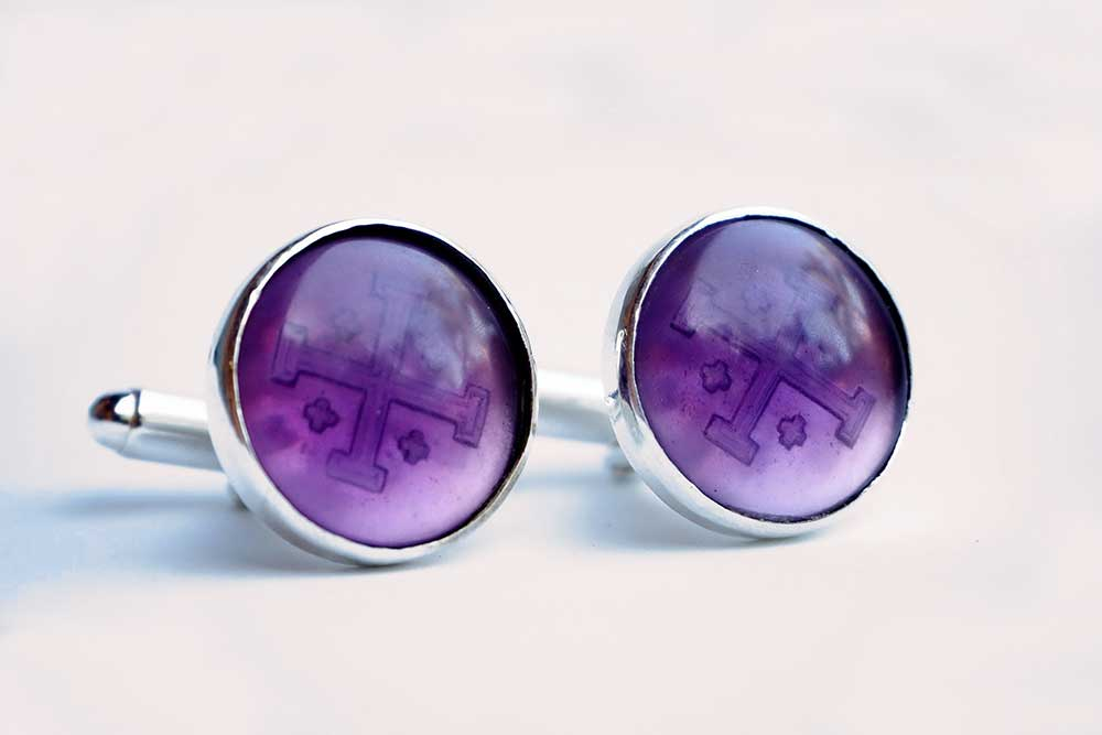 Amethyst cufflinks - Regnas Jewelry