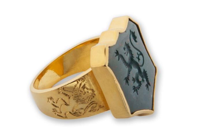 Bloodstone Lion Ring