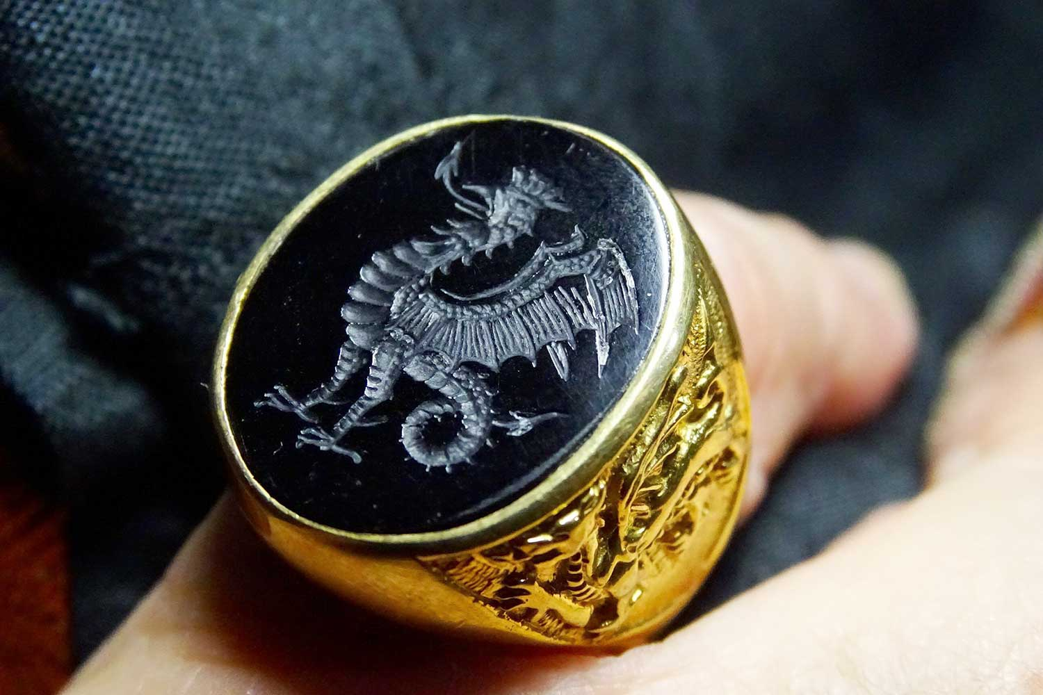 Cockatrice Signet Ring