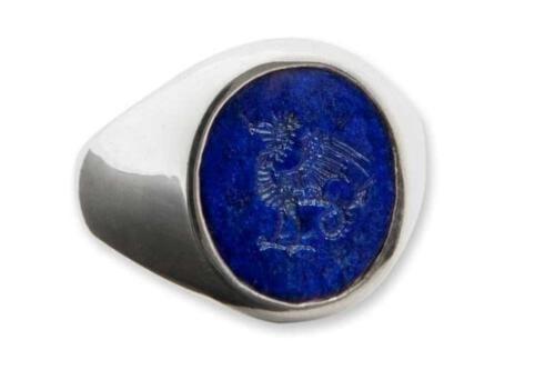 Lapis cockatrice ring