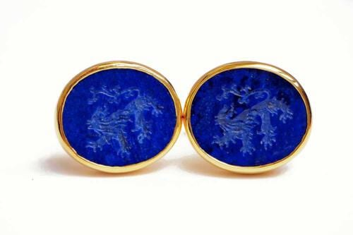 Engraved Cufflinks - Lions Rampant