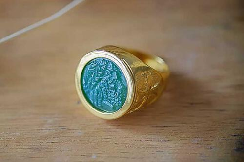 Jade Greek God Ring - Regnas Jewelry
