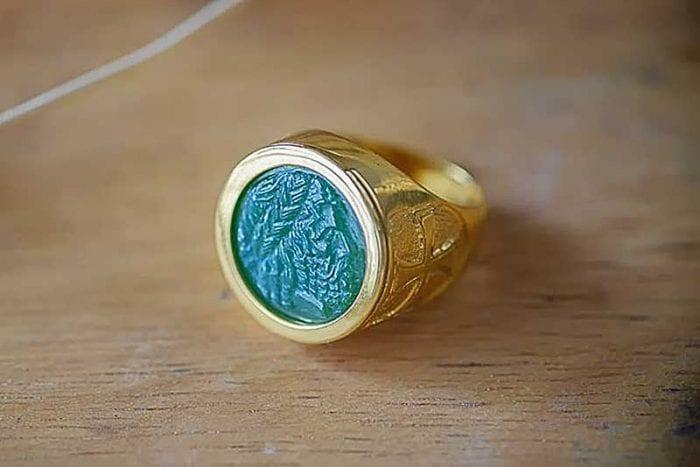 Jade Greek God Ring - Regnas Jewelry