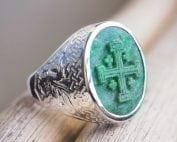 mens Jerusalem Cross Ring