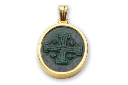 Carved Jade Jerusalem Cross Pendant