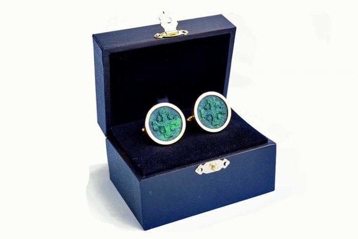 Jade Albite Cufflinks - Regnas Jewelry