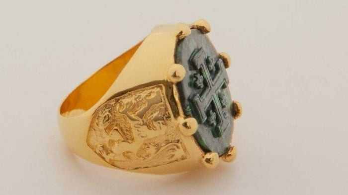 Jerusalem Cross ring - Jade Albite