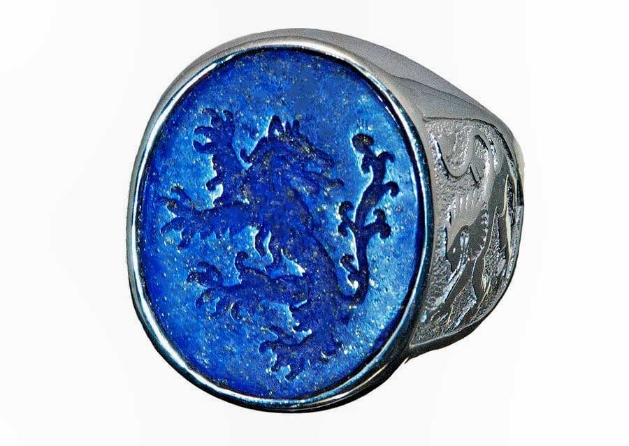 Blue lion ring by Regnas