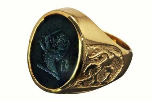 Engraved Lion Ring