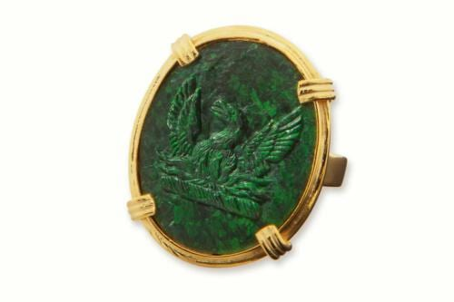 Phoenix Ring - Jade Albite - Gold