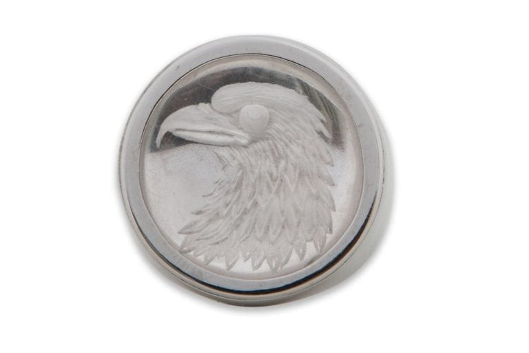 American Eagle Crystal Ring - Sterling Silver
