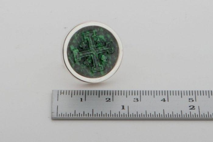 Jerusalem Cross Cufflinks - Round - 20mm