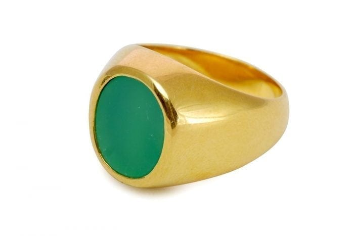 Chrysoprase ring - Regnas Jewelry