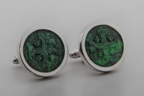 Jerusalem Cross Cufflinks - Round - 20mm