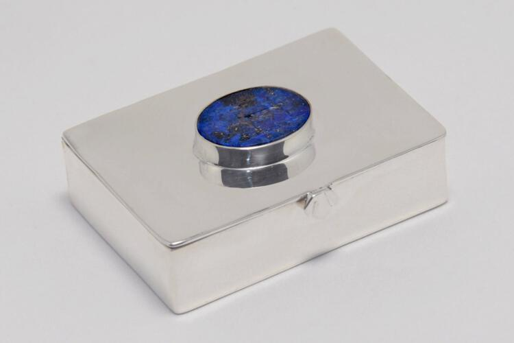 Lapis Pillbox Unique Sterling Silver Gift Below Cost Price 925