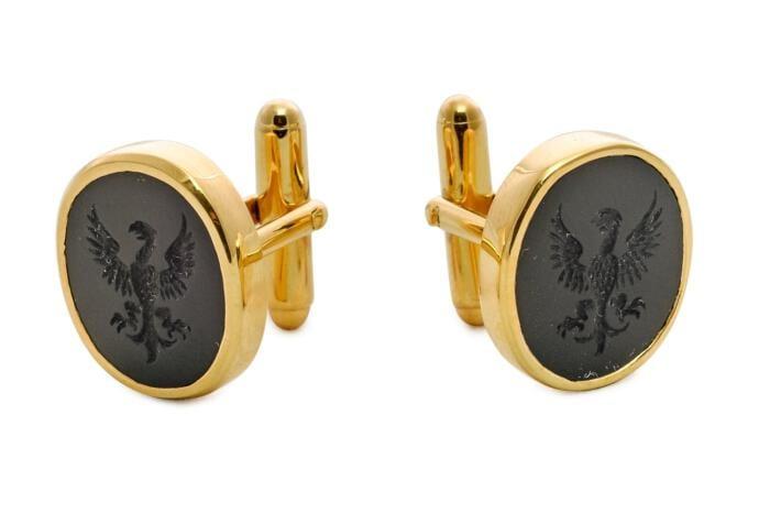 Black Onyx eagle cufflinks