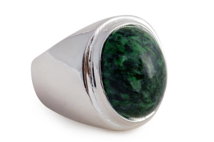 Jade cabochon ring - Regnas Jewelry