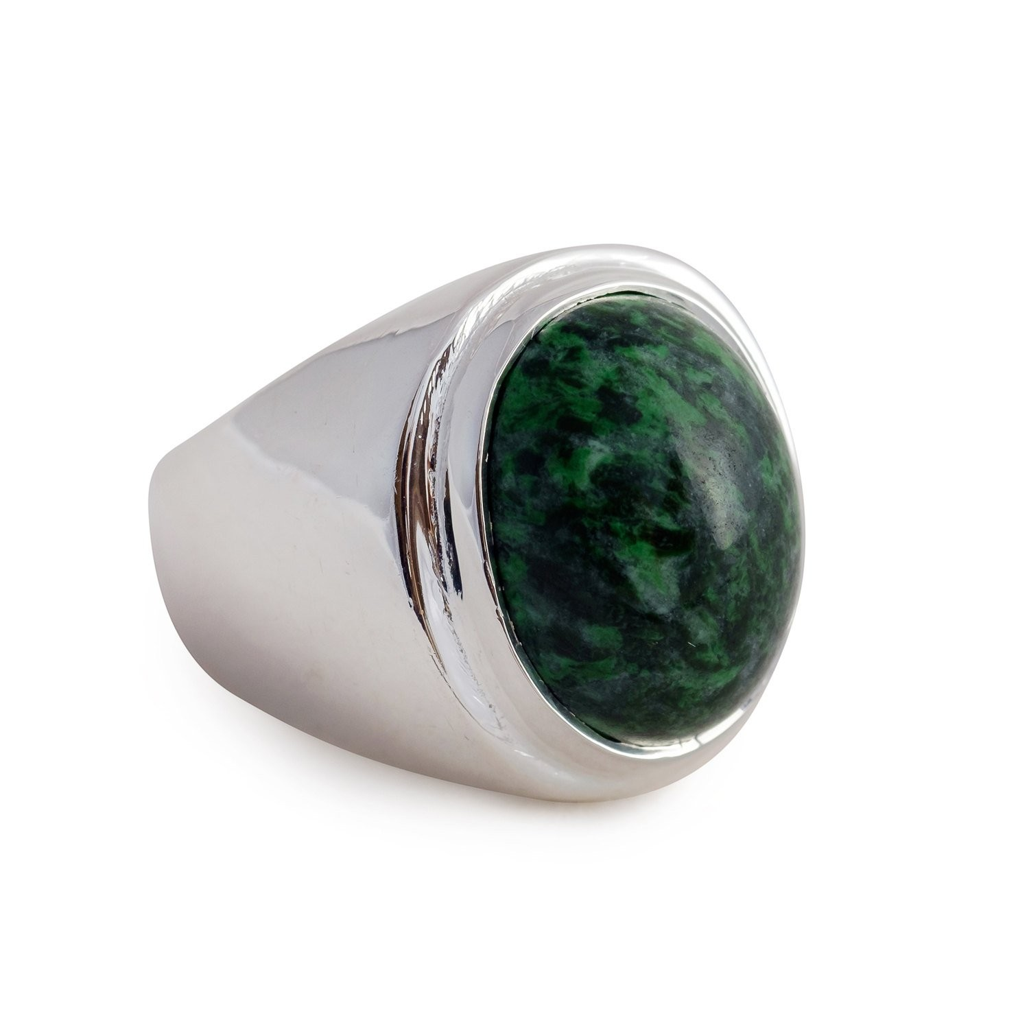 Jade cabochon ring - Regnas Jewelry