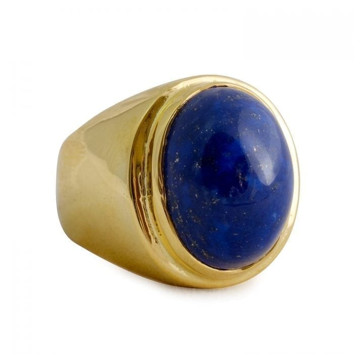 Lapis cabochon ring - Regnas Jewelry