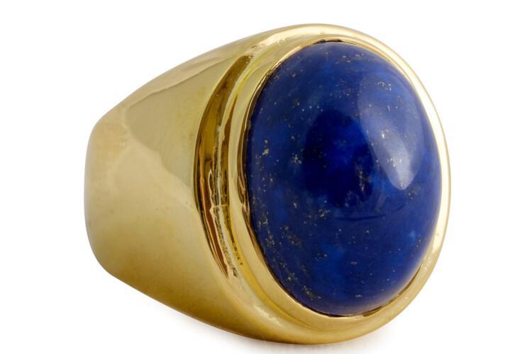 Lapis cabochon ring - Regnas Jewelry