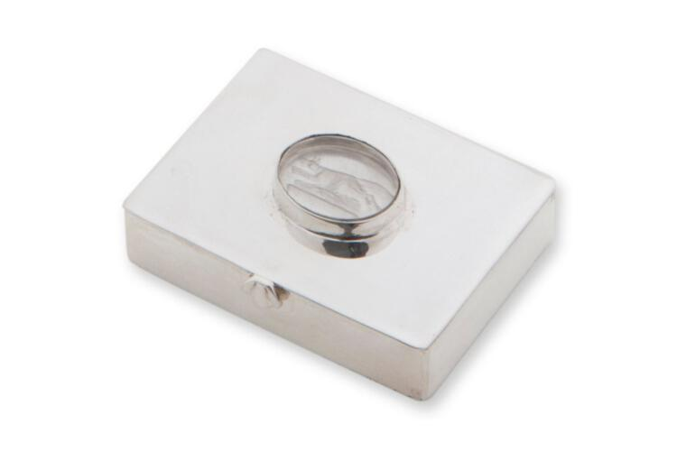 Crystal Pillbox Unique Sterling Silver Gift Below Cost Price 925
