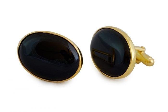 Black Onyx Cuff links - Regnas Jewelry