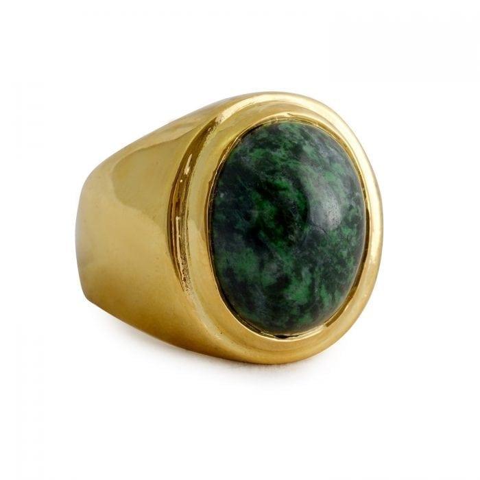 Green Ring - Jade Albite - Regnas Jewelry
