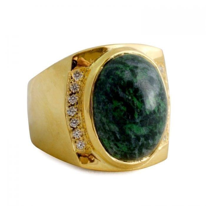 Jade zircons ring - Regnas Jewelry