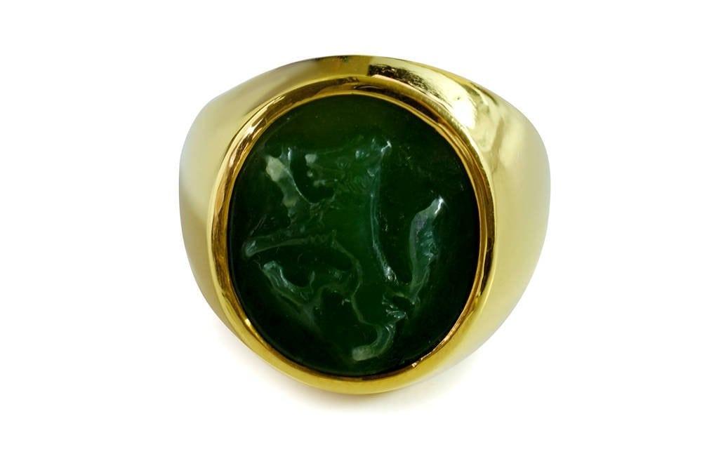 Jade Wolf Ring - Regnas Jewelry