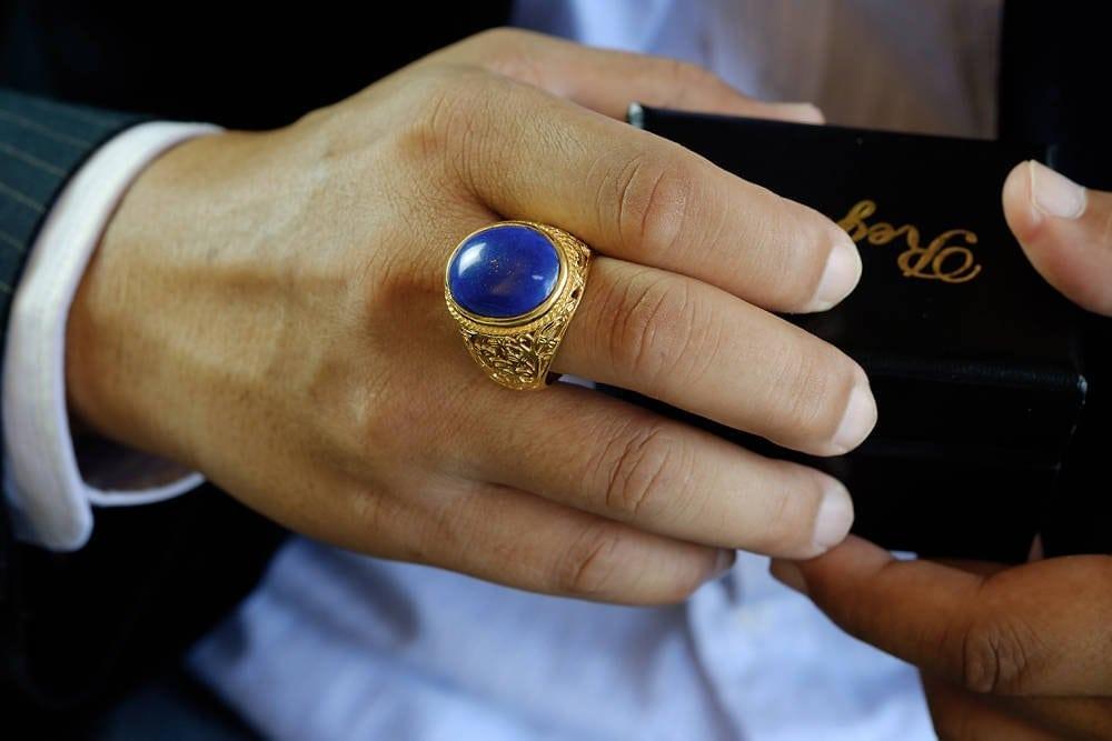 Lapis Lazuli stone ring