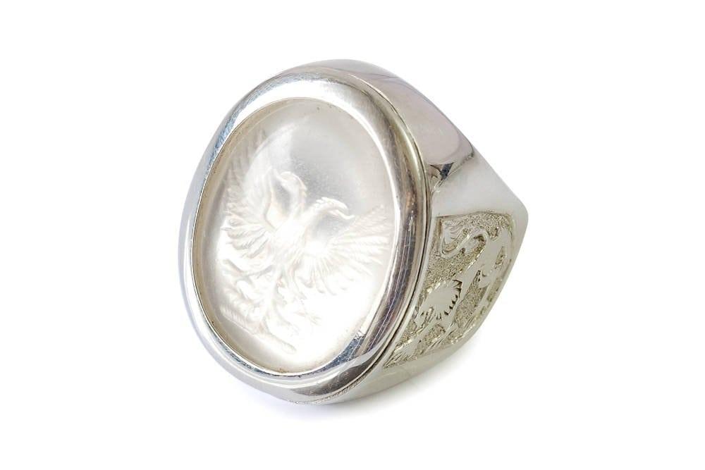 Rock Crystal Eagle Ring - Regnas Jewelry