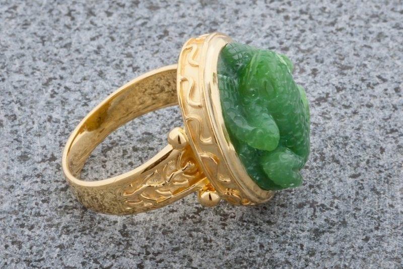 Jade Frog Ring