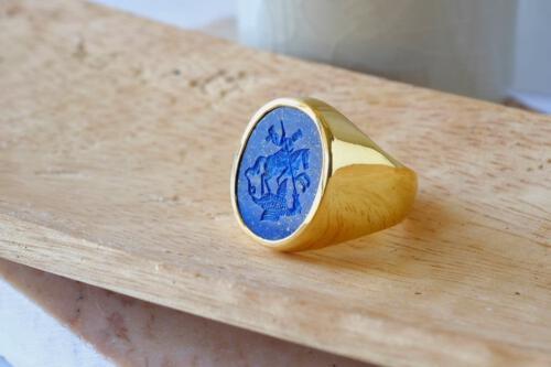 Saint George ring - engraved heraldic - Regnas Jewellery
