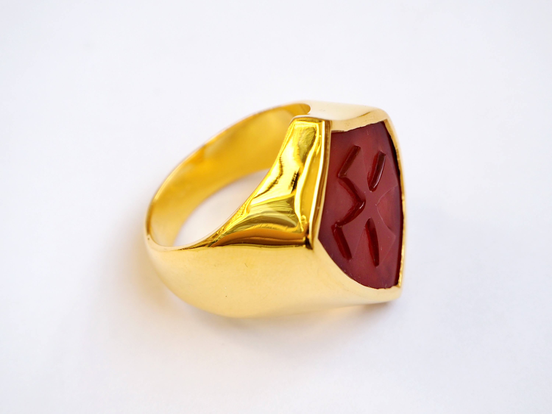Templar Cross Shield Ring