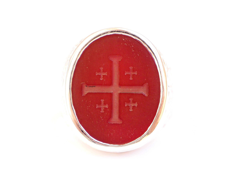Jerusalem Cross engraved