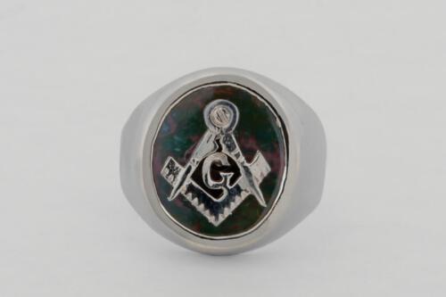 Bloodstone Masonic Ring