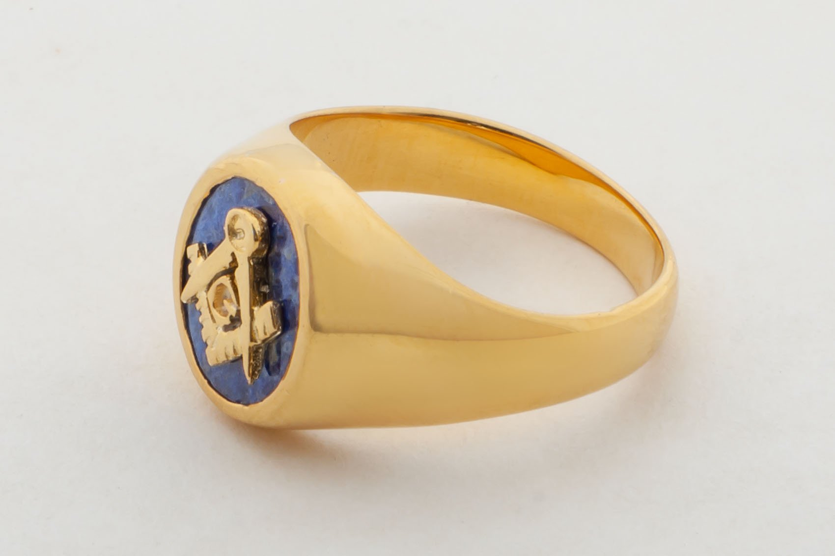 Masonic Ring Lapis