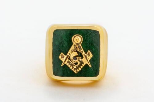 Jade Masonic Ring