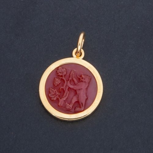 Bear and Grapes pendant