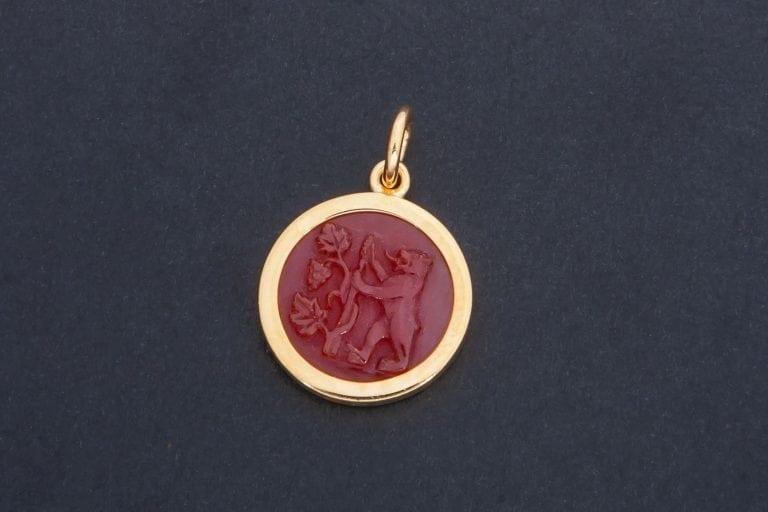 Bear and Grapes pendant