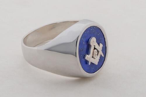 Masonic Ring Lapis Smaller Overlaid