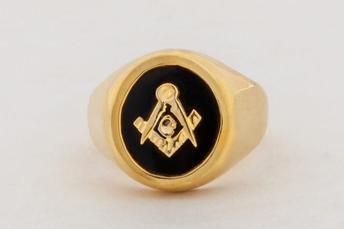 Masonic Ring Black Onyx