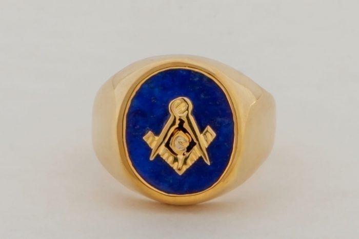 Masonic Ring Lapis Smaller