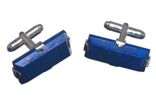 Lapis Gothic Cufflinks - Sterling Silver