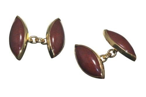 Red agate cuff links