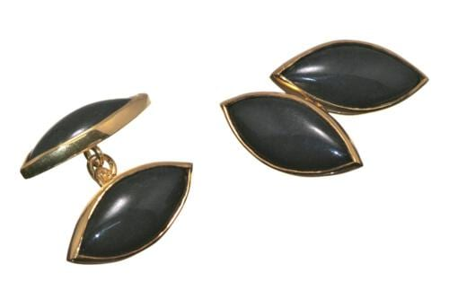 Black Jade Cufflinks - DL38