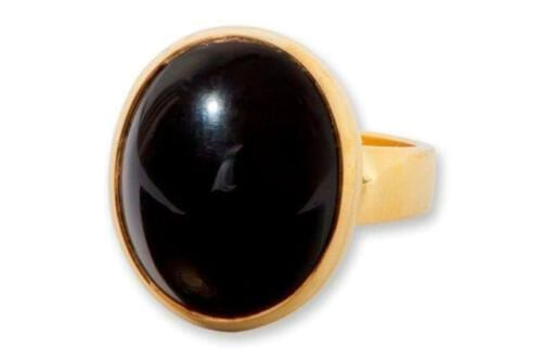 Gold Plated Black Onyx Ring