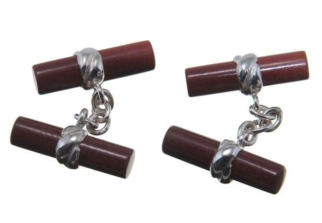 Jasper Cufflinks Double Imperial Regnas Genuine Gemstone Sterling Silver 925
