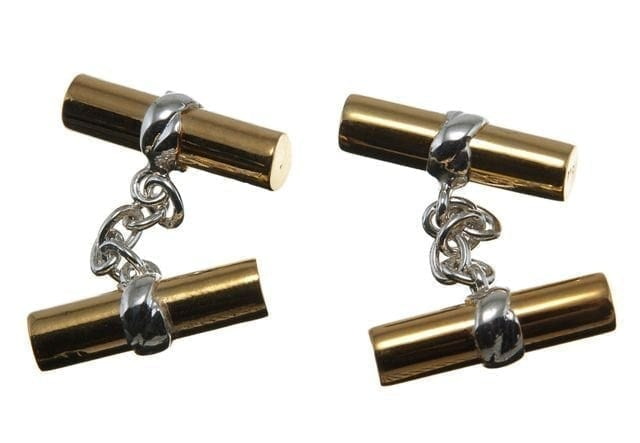 Solid Silver Cufflinks Gold Plated Double Regnas Imperials Solid Sterling Silver 925