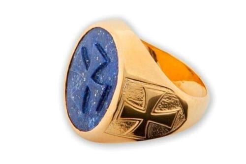 Lapis Templar Cross Ring